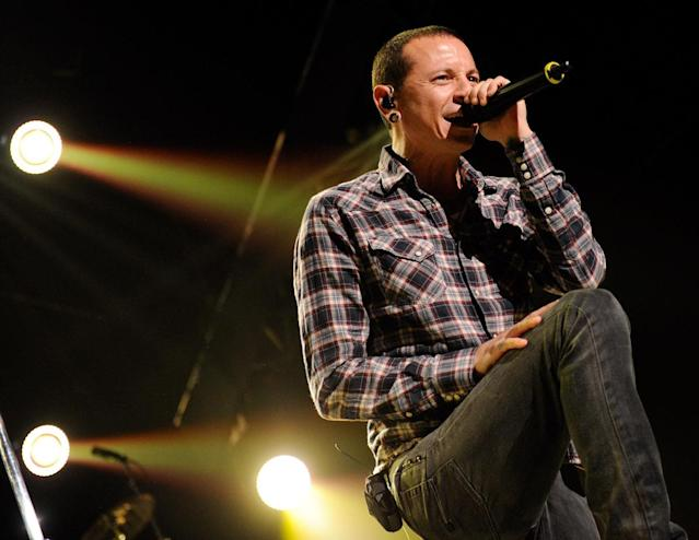 <p>Chester Bennington was the frontman for rock band Linkin Park. He died July 20 by suicide. He was 41.<br> (Photo: Getty Images) </p>