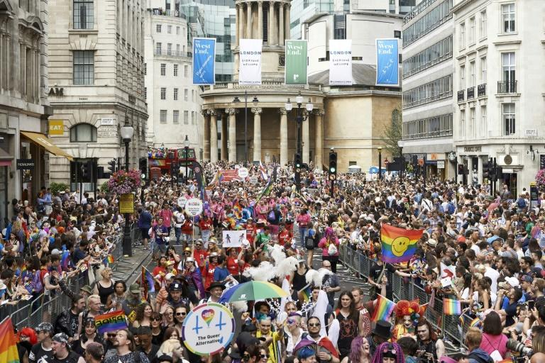 Saturday's march marks the 50th anniversary that homosexuality was decriminalised in England and Wales
