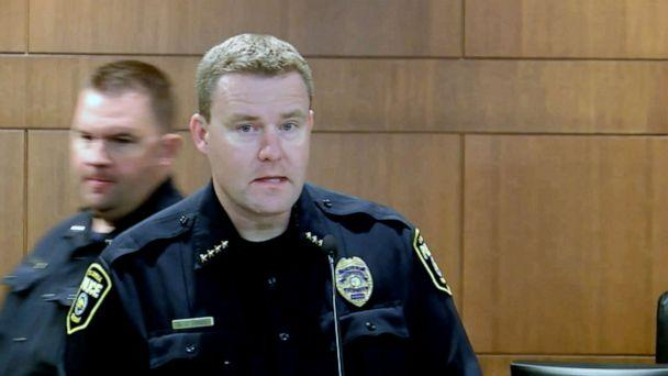 PHOTO: Columbia Police Chief Geoff Jones speaks at a press conference in Columbia, Mo. (KMIZ)