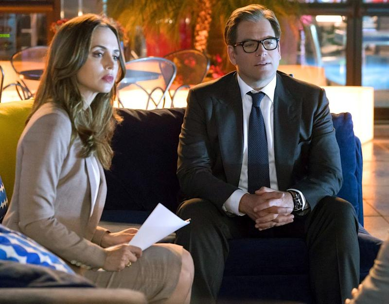 Eliza Dushku and Michael Weatherly | Barbara Nitke/CBS via Getty