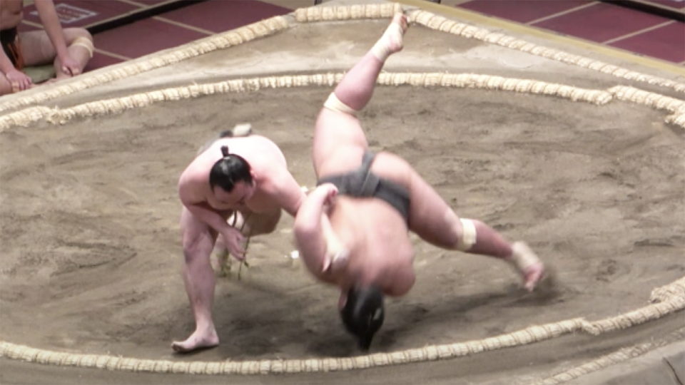 Sumo wrestler Hibikiryu, aka Mitsuki Amano, has died aged 28 after suffering a serious concussion in a match on March 26. Picture: YouTube