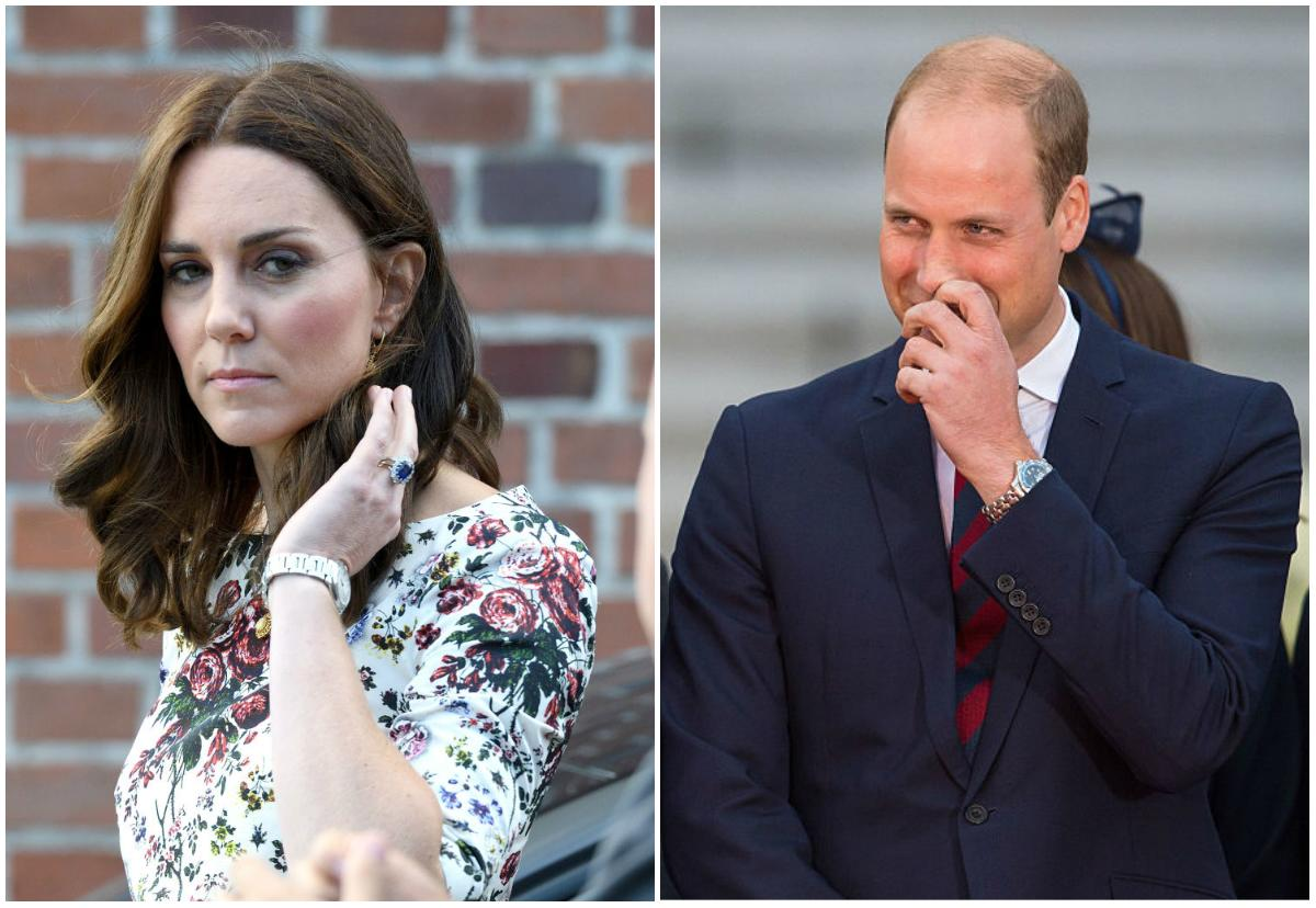 <p>It'd be difficult to miss the Duchess of Cambridge's impressive engagement ring — 14 diamonds around a 12-carat sapphire, the bobble is said to be worth a staggering $400,000. But pay close attention, and you'll notice that some senior members of the royal family have chosen not to wear their wedding rings — including Prince William. <em>(Photo: Getty)</em><br /><br /></p>