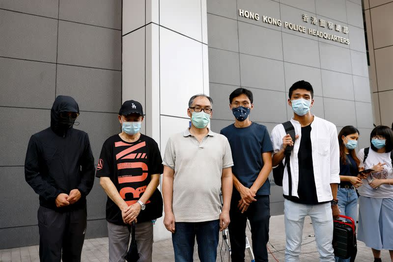 Relatives of 12 activists detained at sea report to the police to seek help in Hong Kong