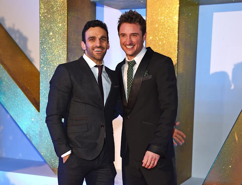 LONDON, ENGLAND - JANUARY 20: Davood Ghadami (L) and James Bye attend the 21st National Television Awards at The O2 Arena on January 20, 2016 in London, England. (Photo by David M. Benett/Dave Benett/Getty Images)