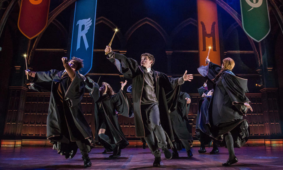 """<p>Even if Harry's last cinematic outing was in 2011, it hasn't stopped the Rowling behemoth, especially considering the smash hit stage sequel <em>Cursed Child</em> (pictured) and the ongoing <a href=""""https://uk.movies.yahoo.com/tagged/fantastic-beasts"""" data-ylk=""""slk:Fantastic Beasts"""" class=""""link rapid-noclick-resp""""><em>Fantastic Beasts</em></a> franchise.<br>Photo: AP </p>"""