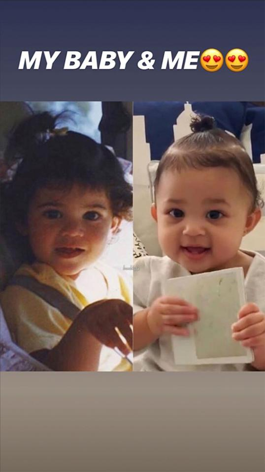 At 10 months old, the makeup mogul's daughter looked just as cute in a tiny ponytail.