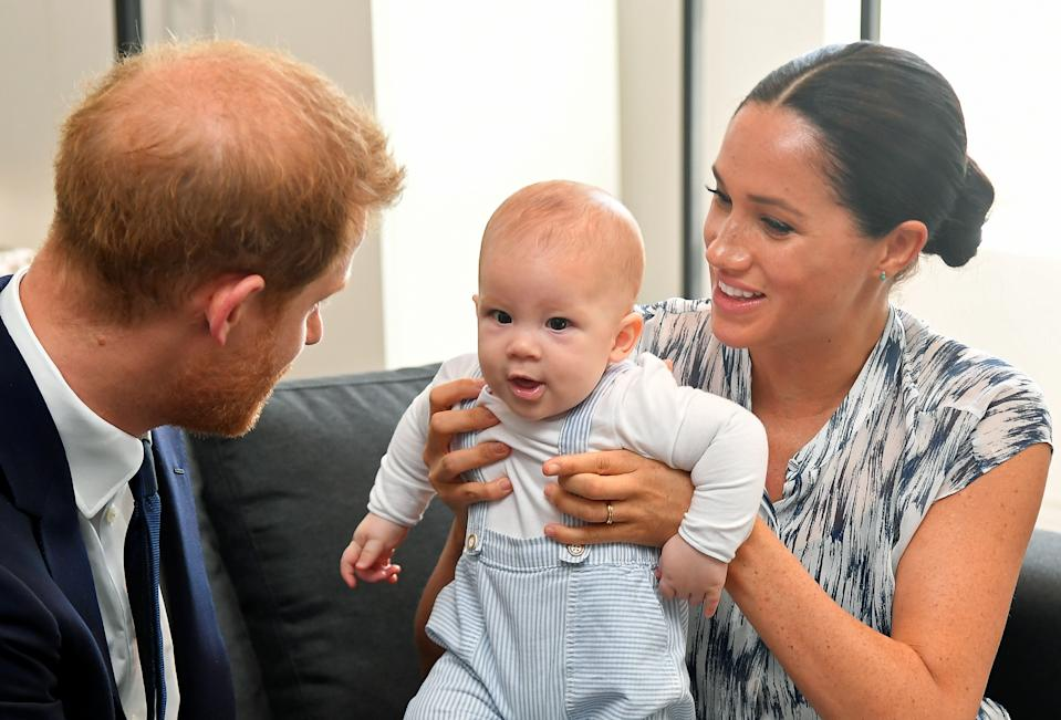 The Duke and Duchess of Sussex have revealed baby Archie is hitting some pretty big milestones [Photo: PA]