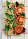 """<p>Think of this as a caprese sandwich minus the cheese. Instead, you'll slather your bread with an edamame dressing that'll become a regular staple in your fridge. <br></p><p><a class=""""link rapid-noclick-resp"""" href=""""https://www.loveandlemons.com/tomato-basil-artichoke-picnic-sandwich/"""" rel=""""nofollow noopener"""" target=""""_blank"""" data-ylk=""""slk:Get the recipe"""">Get the recipe</a></p><p><em>*Nutritional information not available</em></p>"""