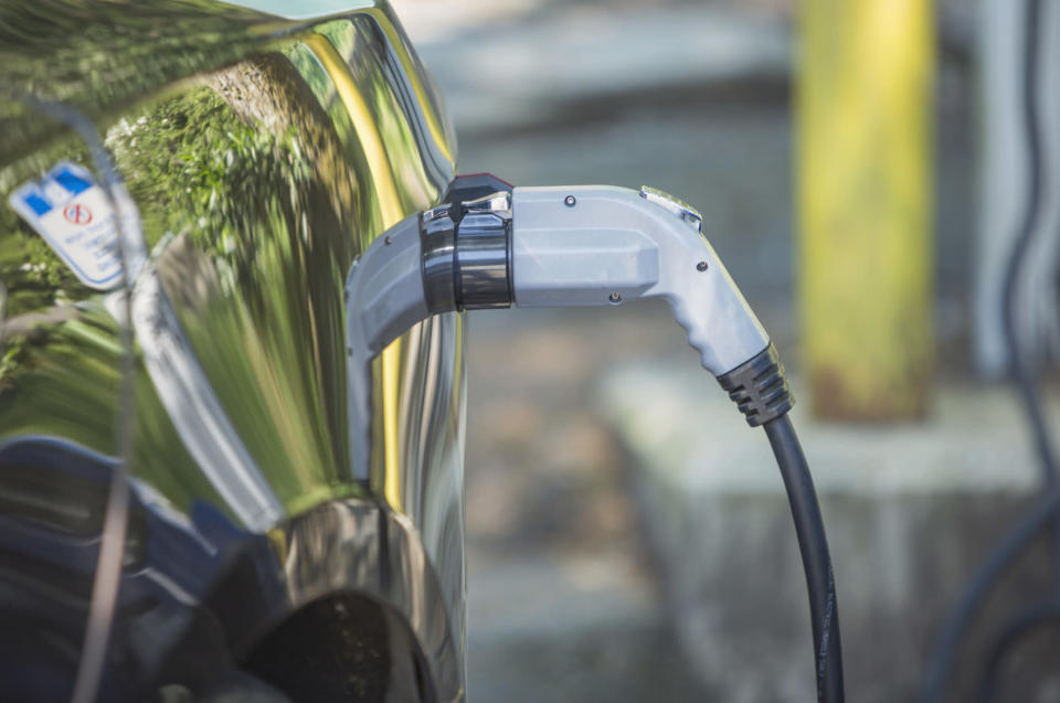 electric vehicle charging Credit: Holly Hildreth. Moment. Getty Images