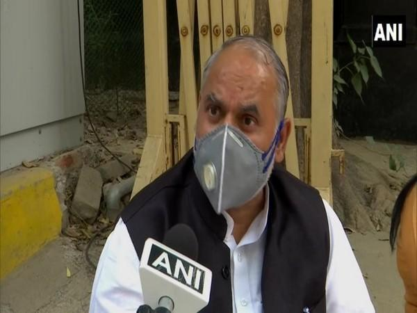 North Delhi Mayor Jai Prakash talking to ANI on Monday.