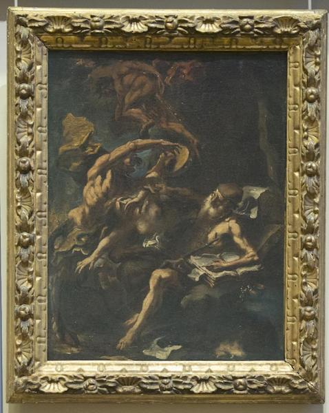 """The painting """"La Tentation de Saint Antoine"""" by Sebatien Ricci (1659-1734) is seen at the Louvre museum in Paris, Thursday, Feb. 14, 2013. The French state is preparing to give back seven stolen Nazi-era paintings - 4 of which including """"La Tentation de Saint Antoine"""" are in the Louvre - to two Jewish families, after a decade-long tug of war. It ends years of struggle for the two families, whose claims were all validated by the French prime minister last year. (AP Photo/Jacques Brinon)"""
