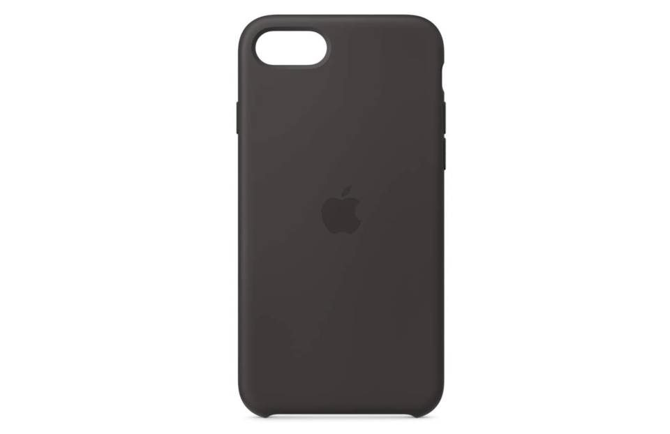 Apple Funda de silicón para el iPhone SE en negro. Foto: amazon.com.mx