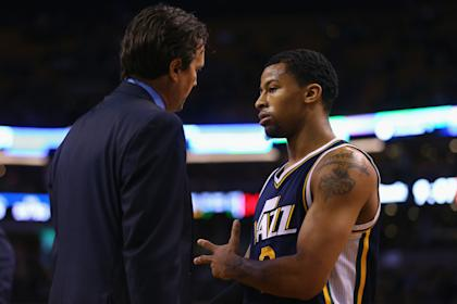 Jazz head coach Quin Snyder could have to turn back to former starter Trey Burke in Exum's absence. (Maddie Meyer/Getty)