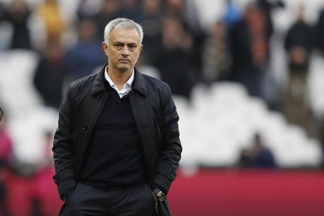 Mourinho admitted the players were fatigued by the managerial shift in mid-week, as well as the international break. (Photo by ADRIAN DENNIS/AFP via Getty Images)