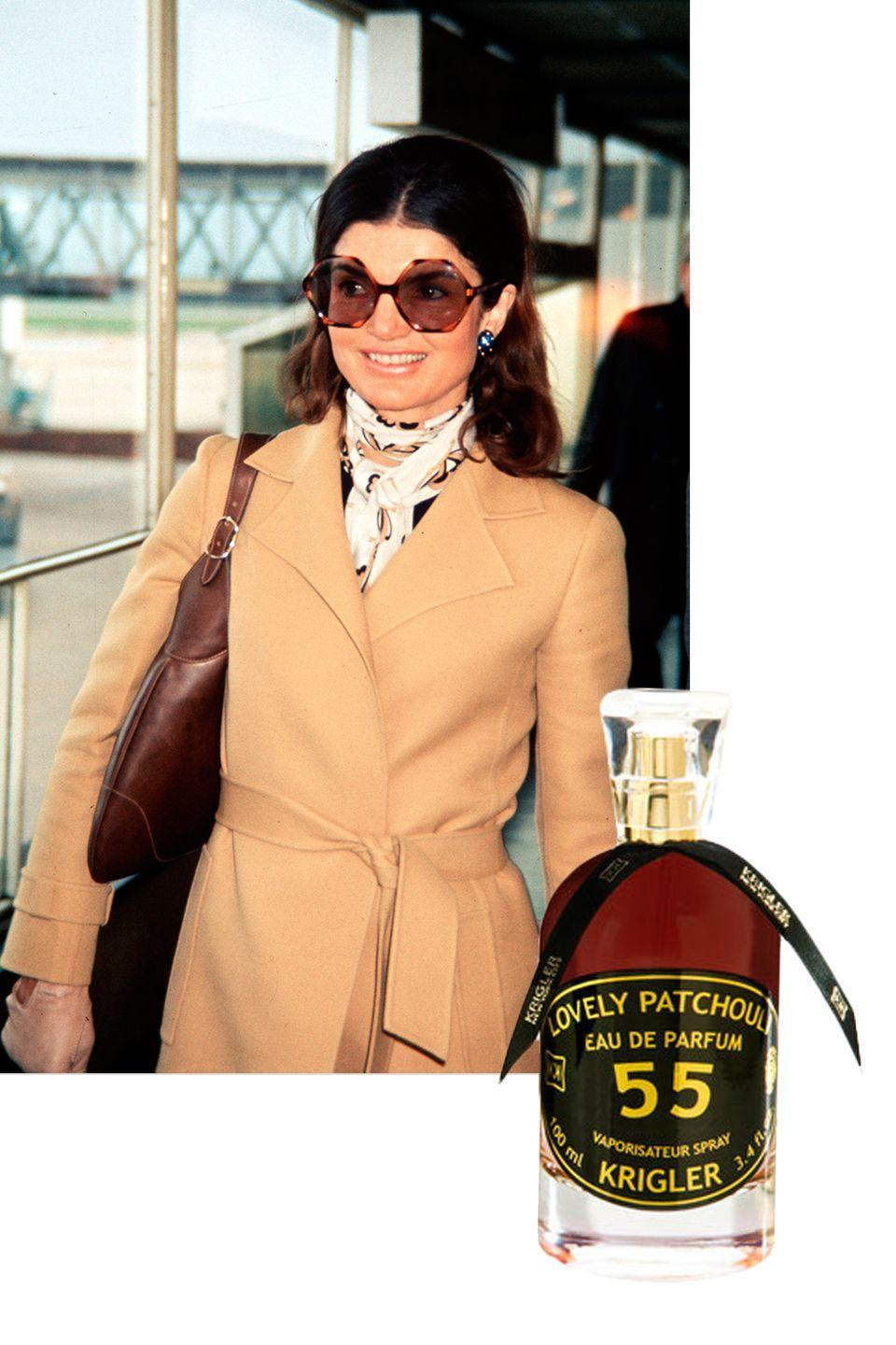 "<p><span>Kennedy's preferred fragrance, <a href=""http://www.byrdie.co.uk/jackie-kennedy-perfume-lovely-patchouli-55"" rel=""nofollow noopener"" target=""_blank"" data-ylk=""slk:which she wore daily"" class=""link rapid-noclick-resp"">which she wore daily</a>, came from House of Krigler, a luxury French perfumery founded in 1879. ""</span><span><a href=""https://www.krigler.com/usa-world/fragrances/"" rel=""nofollow noopener"" target=""_blank"" data-ylk=""slk:Lovely Patchouli 55"" class=""link rapid-noclick-resp"">Lovely Patchouli 55</a></span><span>,"" a sensuous perfume with notes of amber, bergamot, patchouli, and leather, was her scent of choice.</span></p><p><a class=""link rapid-noclick-resp"" href=""https://www.krigler.com/usa/fragrances/fragrances-presentations/#cc-m-product-6425335364"" rel=""nofollow noopener"" target=""_blank"" data-ylk=""slk:SHOP NOW"">SHOP NOW</a> <em>Krigler Lovely Patchouli 55 Classic, $365</em></p>"