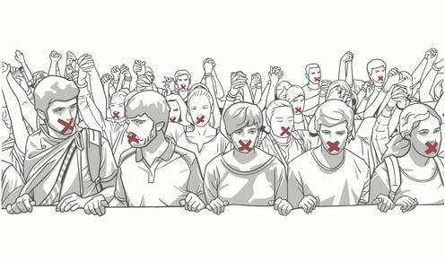 """<span class=""""attribution""""><a class=""""link rapid-noclick-resp"""" href=""""https://www.shutterstock.com/image-vector/illustration-young-crowd-demonstrating-red-tape-777890371"""" rel=""""nofollow noopener"""" target=""""_blank"""" data-ylk=""""slk:robzs/Shutterstock"""">robzs/Shutterstock</a></span>"""