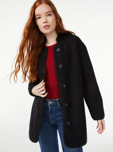 <p>The <span>Free Assembly Women's Teddy Fleece Cocoon Jacket</span> ($39) is the perfect finishing touch to your fall ensemble.</p>