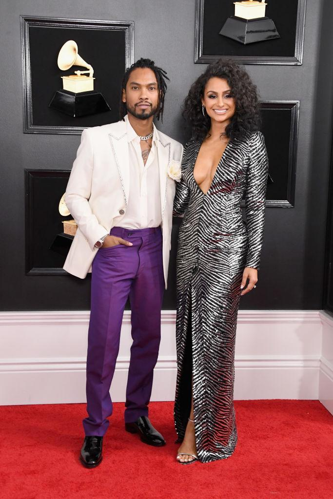 <p>Miguel and Nazanin Mandi attend the 61st annual Grammy Awards at Staples Center on Feb. 10, 2019, in Los Angeles. </p>
