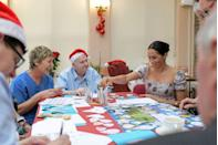<p>During her first Christmas season as an official member of the royal family, Meghan helped residents of the Royal Variety Charity's nursing home make holiday decorations.</p>