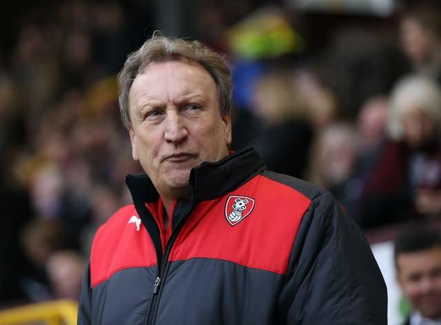 Neil Warnock oversaw a remarkable turn-around during his time at Rotherham (Barrington Coombs/PA)