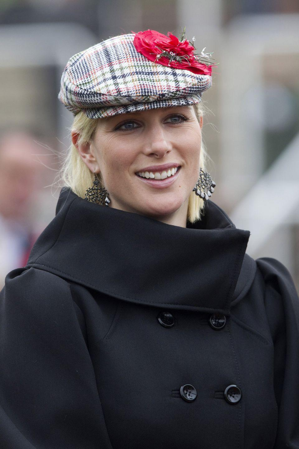 """<p>Plaid makes for a great accessory as well: <a href=""""https://www.townandcountrymag.com/society/tradition/g19460546/zara-tindall-best-style-moments/"""" rel=""""nofollow noopener"""" target=""""_blank"""" data-ylk=""""slk:Zara Tindall, the Queen's granddaughter"""" class=""""link rapid-noclick-resp"""">Zara Tindall, the Queen's granddaughter</a>, wore this plaid hat back in 2011. </p>"""