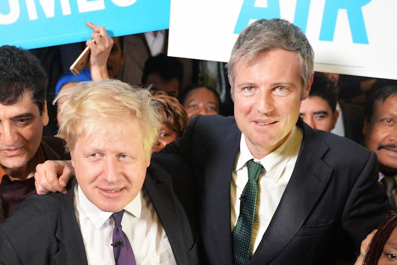 Boris Johnson supporting Zac Goldsmith failed 2016 bid to be London mayor (Photo: PA Archive/PA Images)