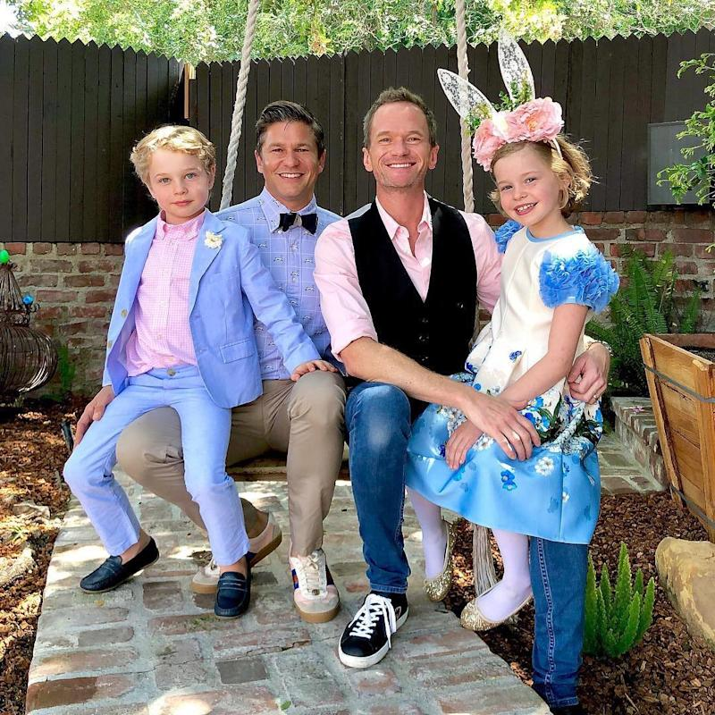 3b137a3fdf0e0 'The Four Burtka-Harris Bunnies': See Neil Patrick Harris' Adorable Family  in Their Easter Best