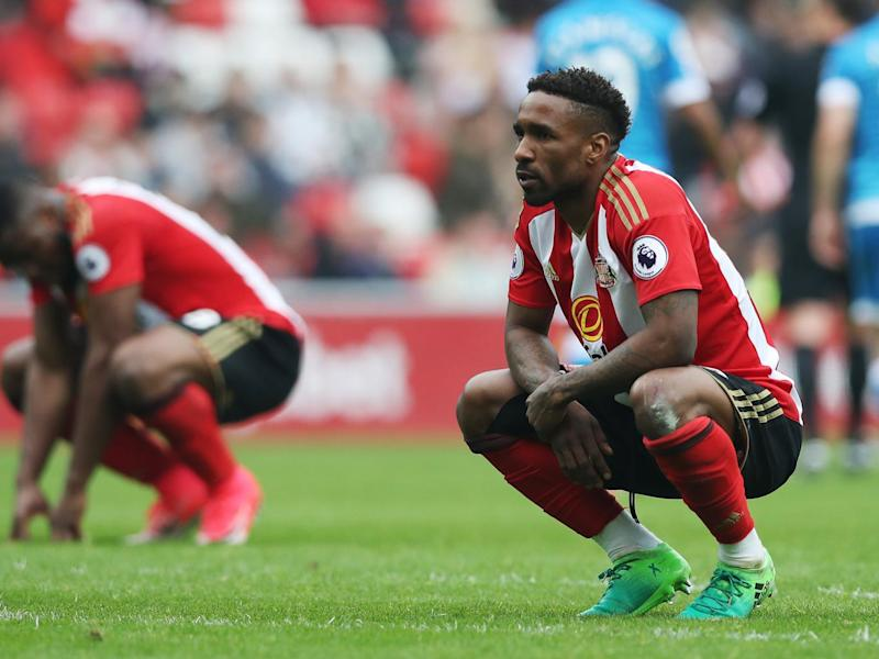 Defoe contemplates Sunderland's slip into the second tier (Getty)