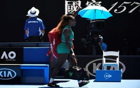 <span>Williams waves farewell to the Australian Open&nbsp;</span> <span>Credit: Getty Images </span>