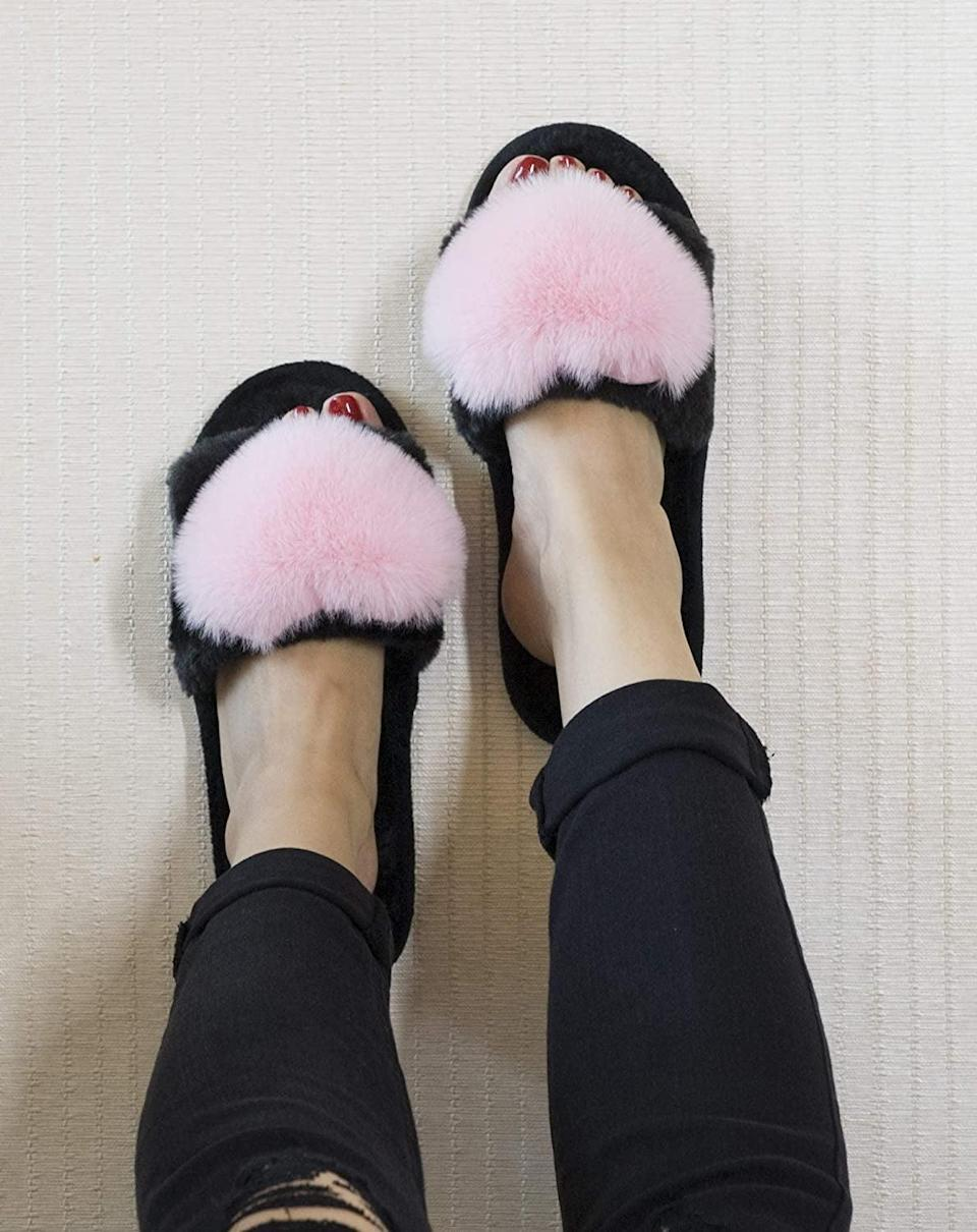 <p>These <span>Fuzzy Fluffy Furry Fur Slippers</span> ($13) make a great gift for your friends.</p>