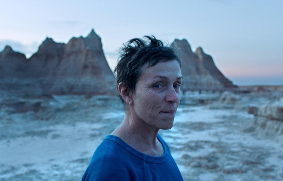Frances McDormand has been nominated for 'Nomadland'Fox Searchlight Pictures