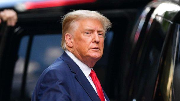 PHOTO: Former President Donald Trump leaves Trump Tower in New York on May 18, 2021. (GC Images/Getty Images, FILE)
