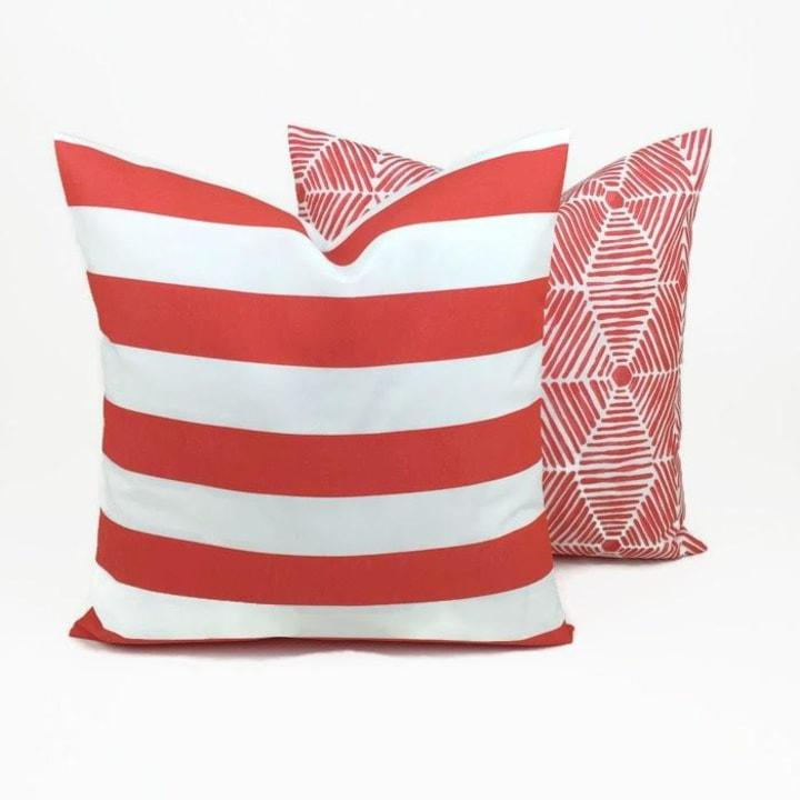 Outdoor pillow covers (Jane, $7)