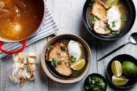 """Poach eggs in a garlic-infused broth and then ladle that broth over toast for a deeply comforting meal. <a href=""""https://www.epicurious.com/recipes/food/views/garlic-soup-with-poached-eggs-106993?mbid=synd_yahoo_rss"""" rel=""""nofollow noopener"""" target=""""_blank"""" data-ylk=""""slk:See recipe."""" class=""""link rapid-noclick-resp"""">See recipe.</a>"""