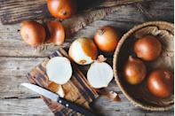 """<p>Despite their translucent appearance, onions are dense in vital nutrients. """"They are high in the protective antioxidant <a href=""""https://www.prevention.com/food-nutrition/g20511745/9-foods-with-more-vitamin-c-than-an-orange/"""" rel=""""nofollow noopener"""" target=""""_blank"""" data-ylk=""""slk:vitamin C"""" class=""""link rapid-noclick-resp"""">vitamin C</a>, B vitamins for a healthy metabolism, and <a href=""""https://www.prevention.com/food-nutrition/a20466110/13-foods-that-have-more-potassium-than-a-banana/"""" rel=""""nofollow noopener"""" target=""""_blank"""" data-ylk=""""slk:potassium"""" class=""""link rapid-noclick-resp"""">potassium</a> for stable blood pressure levels,"""" Mirkin says. </p><p><strong>Try it: </strong>Prep some caramelized onions in advance to add to sandwiches, stir-fries, salads, and soups for a burst of flavor.</p>"""