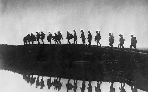 Troops in France at the height of the First World War, 1916 - Credit: Getty images