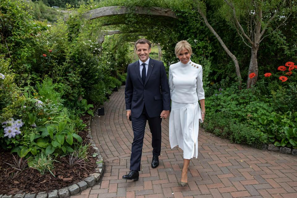 Emmanuel and Brigitte Macron at the G7 (Getty Images)