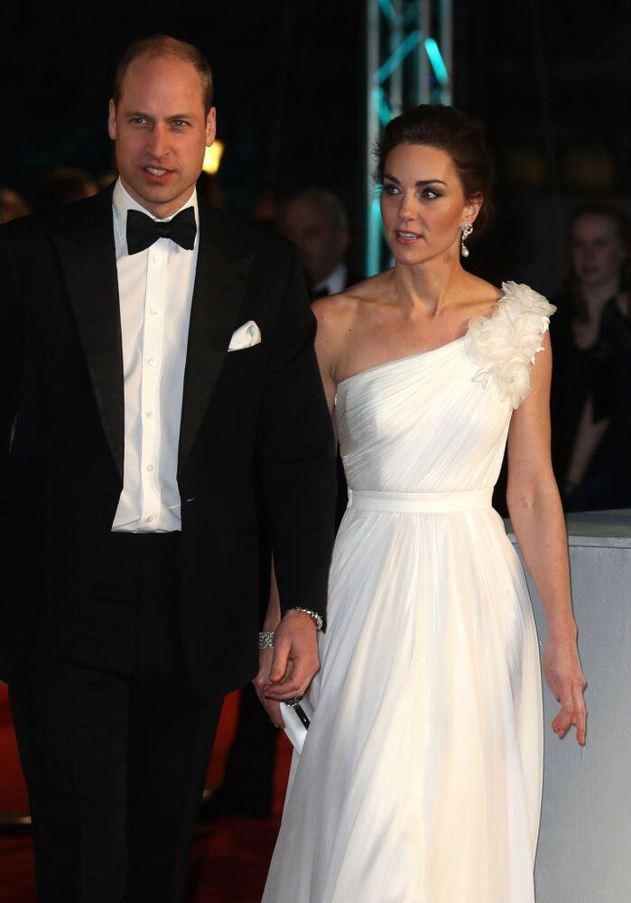 Prince William and Kate Middleton at the 2019 BAFTAs