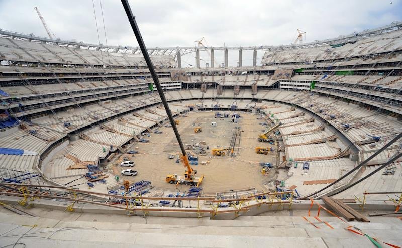 INGLEWOOD, CA - JUNE 07: Construction continues on the new Los Angeles Rams stadium site in Inglewood on Friday, June 7, 2019. The LA Stadium will open for the 2020 NFL season and will be home to the Rams and Chargers. (Photo by Scott Varley/MediaNews Group/Daily Breeze via Getty Images)
