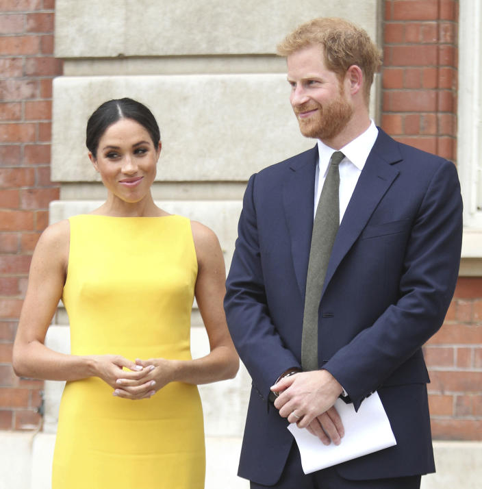 Prince Harry The Duke of Sussex and Duchess Meghan of Sussex intend to step back their duties and responsibilities as senior members of the British Royal Family