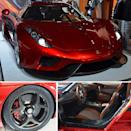 The Koenigsegg Regera (top) shows a new use of carbon composite in wheels (bottom left). The entire car body and structure are also made of carbon composites (bottom right).