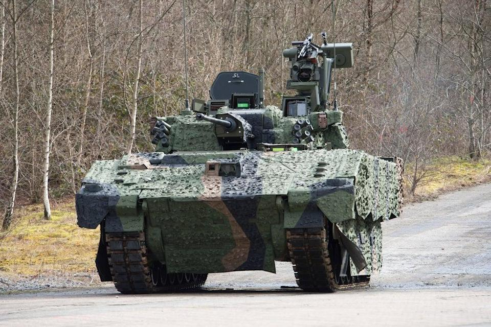 The Ajax armoured fighting vehicle (Andrew Linnett/PA) (PA Media)