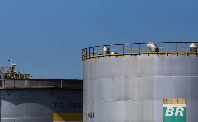 Tanks are seen at Revap refinery controlled by Brazilian state oil company Petrobras, in Sao Jose dos Campos