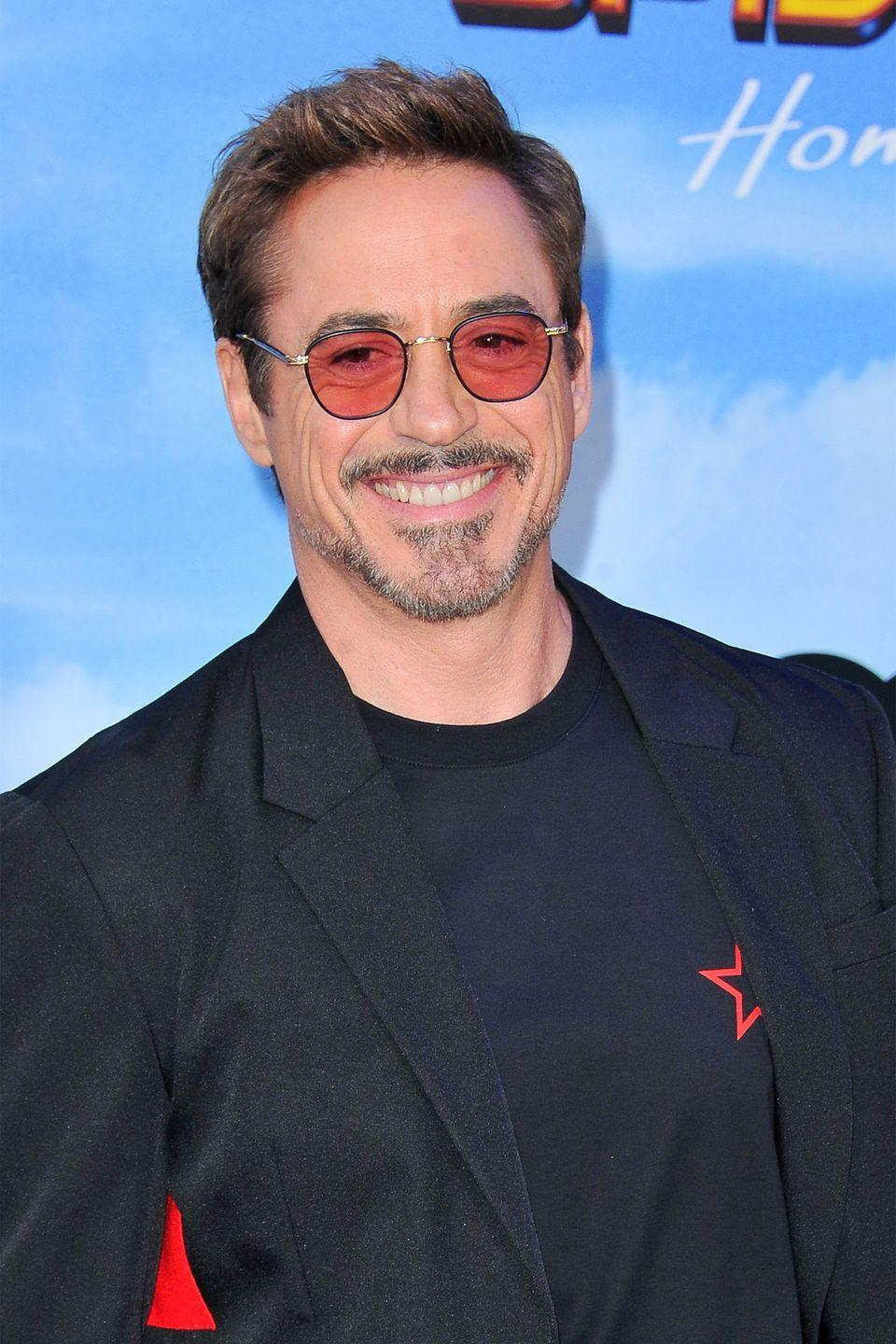 """<p>The <em>Iron Man </em>star <a href=""""https://www.rollingstone.com/culture/pictures/dropout-boogie-14-celebs-who-never-got-their-degree-20140528/robert-downey-jr-0636349"""" rel=""""nofollow noopener"""" target=""""_blank"""" data-ylk=""""slk:dropped out"""" class=""""link rapid-noclick-resp"""">dropped out</a> of Santa Monica High School after his junior year when his father gave him an ultimatum to """"either show up [to school] every day or quit and get a job."""" The move definitely worked out for the A-List actor. </p>"""