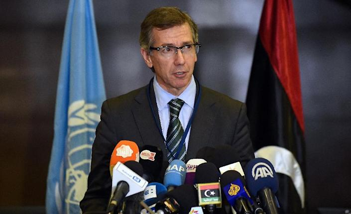 "UN Special Envoy to Libya Bernardino Leon says Libya is at risk of becoming a ""failed state"" (AFP Photo/Fadel Senna)"