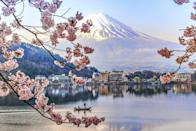 <p>Fuji-san is the tallest peak in Japan as well as is a sacred mountain and symbol.</p>