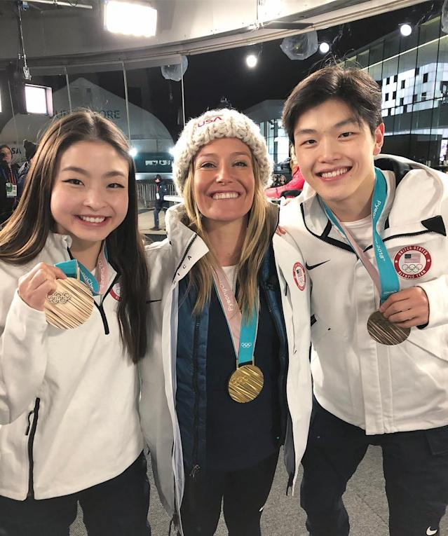 <p>maiashibutani: Loved seeing a member of our @poloralphlauren fam at the @todayshow last night! Congrats on winning gold AGAIN @jamieanderson!! So happy for you!<br> (Photo via Instagram/maiashibutani) </p>