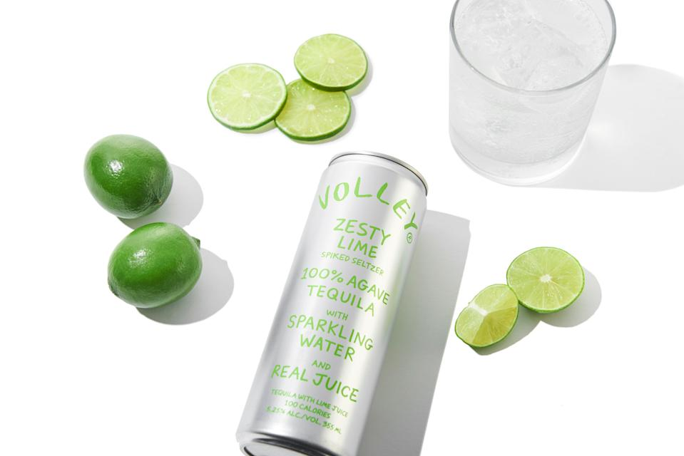 """<strong><h3><a href=""""https://drinkvolley.com/"""" rel=""""nofollow noopener"""" target=""""_blank"""" data-ylk=""""slk:Volley Spiked Seltzer"""" class=""""link rapid-noclick-resp"""">Volley Spiked Seltzer</a></h3></strong> <br>Volley brands itself as a """"the first clean spiked seltzer,"""" which honestly means nothing to me and also, these tasted very bad. Well, they tasted like a shot of tequila if a shot of tequila was 12 ounces, a little bit bubbly, and only 5% alcohol. Somehow, they tasted more alcoholic than if I just had some tequila on the rocks, and a lot of the boys poured out the ginger flavor. They decided that the packaging looked Apple-esque (though personally it gave me more of a Doodle Jump vibe) and that the lime flavor was the best, but honestly, they'd rather just drink cheap tequila. <br>"""