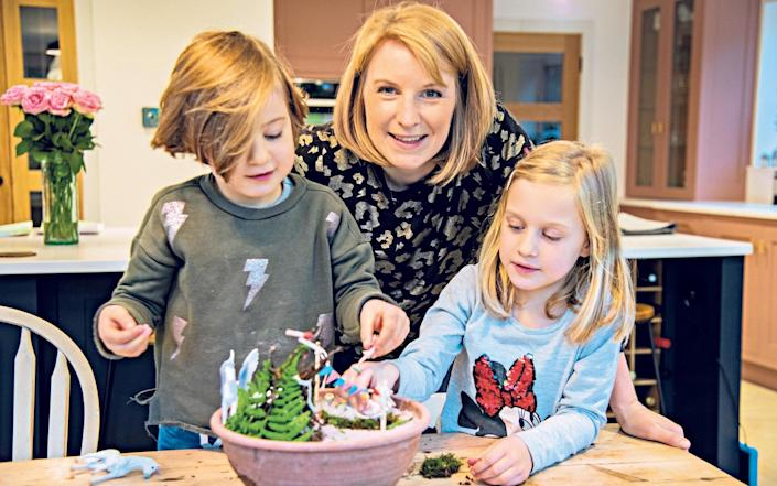 Victoria Page, Amelie and Clara create a Magical Fairy Garden - Madeleine Hunter Photography
