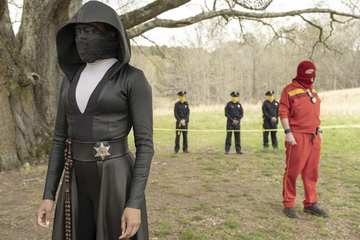 """Regina King and Andrew Howard in """"Watchmen"""" on HBO."""